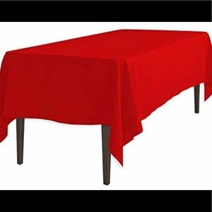 Other - 25% Off 🎄Linen Table Cloth! In Holiday Red
